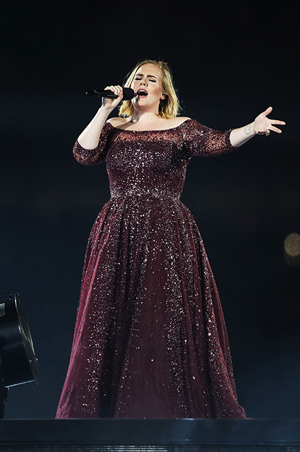 Adele before losing weight