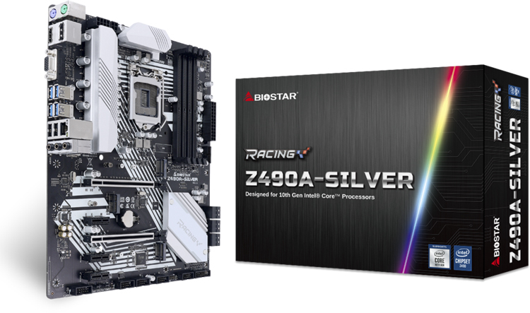 Biostar Racing Z490A-Silver and Z490T-Silver boards are powered by Intel Comet Lake-S chips - Phone Mantra