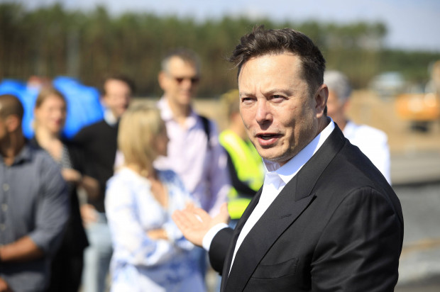 Elon Musk at the first topping-out ceremony on the construction site of the Tesla Gigafactory Berlin-Brandenburg. Grünheide, September 3rd, 2020