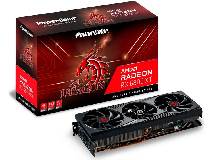 PowerColor Radeon RX 6800 XT Red Dragon is made in a strict style without an abundance of backlighting - Phone Mantra
